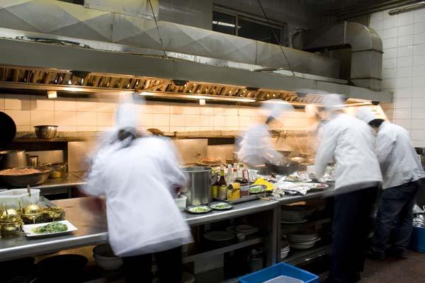 Köche beschäftigt in Profiküche